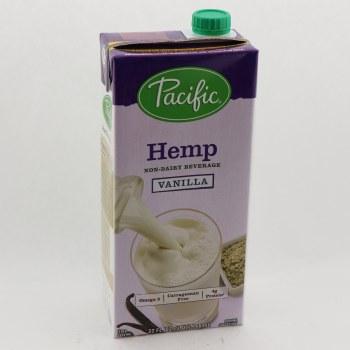 Pacific Hemp Vanilla Flavor Non Dairy Beverage With Omega 3 Carrageenan Free 4g Protein No Genetically Engineered Ingredients 32 oz