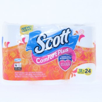 Scott Comfort Plus Unscented Bathroom Tissue 12 Double Rolls  12 rolls