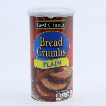 Best Choice Plain Bread Crumbs  15 oz