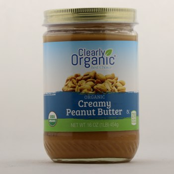 Clearly Organic Creamy Peanut Butter 16 oz