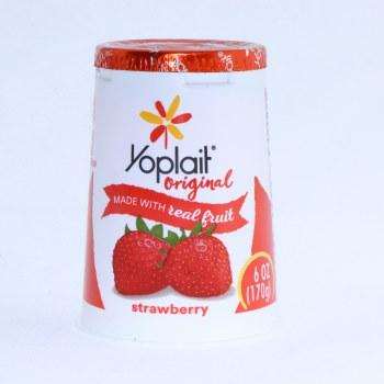 Yoplait Original Strawberry Yogurt, Low Fat, 6oz, Gluten Free, No Colors From Artificial Sources, No Artificial Flavors 6 oz