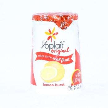 Yoplait Original Lemon Burst Yogurt, 6oz, No Artificial Flavors, No High Fructose Corn Syrup, No Colors from Artificial Sources, Gluten Free 6 oz
