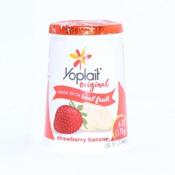 Yoplait Strawberry Ban Yogurt