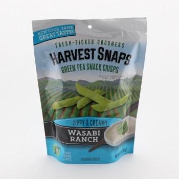 Harvest Snaps Green Pea Snacks Crisps Zippy & Creamy Wasabi Ranch  3.33 oz