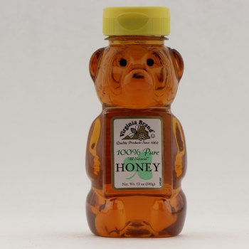 Virginia Brand Bear 100% Pure Honey  12 oz