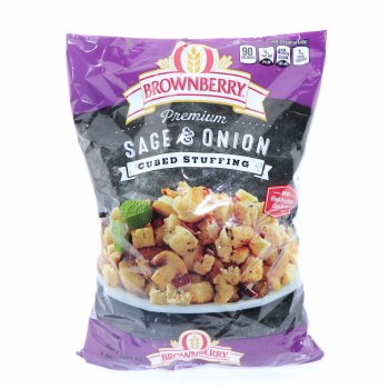 Brownberry Premium Sage & Onion Cubed Stuffing  14 oz