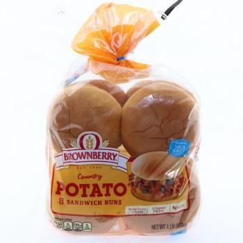 Brownberry Country Potato Sandwich Buns 8 Count 8 buns