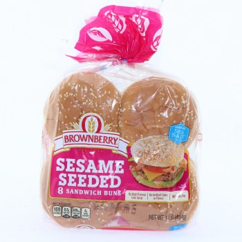 Brownberry Sesame Seeded Sandwich Buns  8 buns