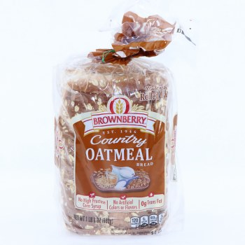 Brownberry Country Oatmeal Bread No High Fructose Corn Syrup No Artificial Colors or Flavors and 0g Trans Fat 24 oz