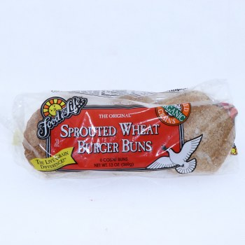 Food for Life Sprouted Wheat Burger Buns No Preservatives 6 Buns 13 oz