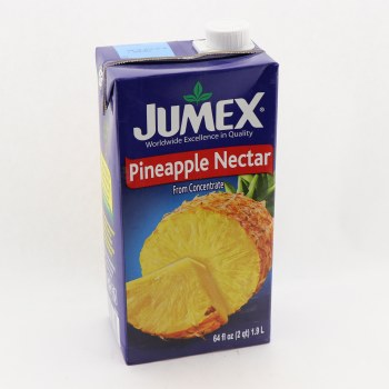 Jumex Pineapple Nectar From Concentrate  Naturally Free of Saturated Fat  Trans Fat Free  Cholesterol Free  Low Sodium  Pasteurized Product 64 oz