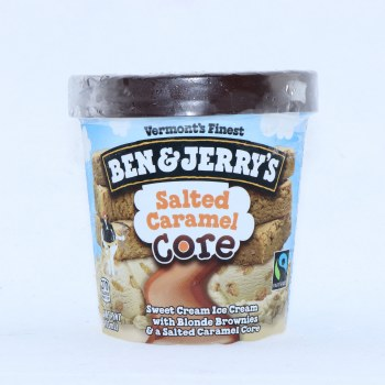 Ben & Jerrys Ice Cream  Salted Caramel Core. Non GMO.