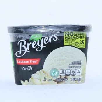 Bryers Ice Cream. Lactose Free Vanilla. Gluten Free.  1.5 qt