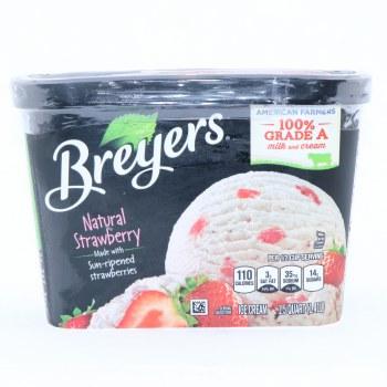 Bryers Ice Cream. Natural Strawberry made with sun ripened Strawberries. Gluten Free Non GMO.