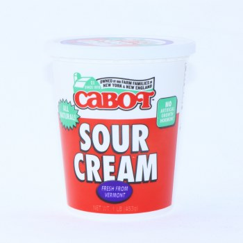 Cabot Sour Cream, All Natural, 453g 16 oz
