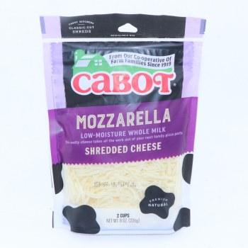Cabot Mozzarella Shredded Cheese Low Moisture Whole Milk 8 oz