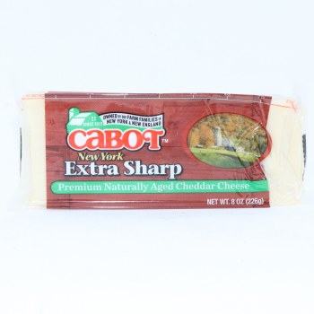 Cabot New York Extra Sharp Cheddar Cheese 8oz.