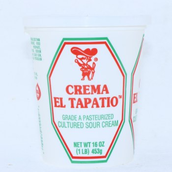 El Tapatio Crema Cultured Sour Cream 16oz  16 oz