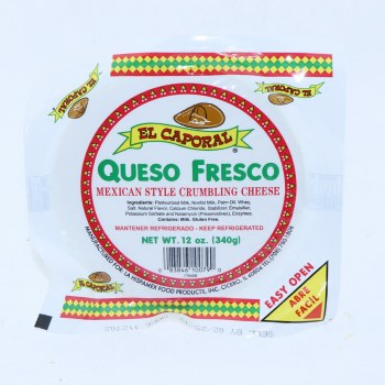 El Caporal Queso Fresco Mexican Style Crumbling Cheese, 12oz.  12 oz