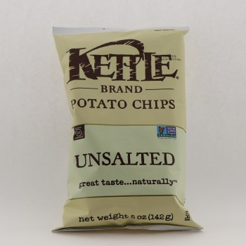 Kettle Unsalted Potato Chips 5 oz