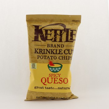 Kettle Spicy queso chips 5 oz