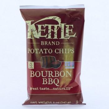 Kettle Bourbon BBQ Potato Chips. Non GMO, Gluten Free.  5 oz