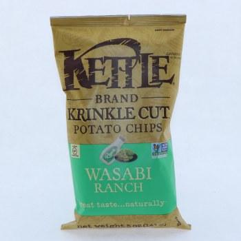 Kettle Wasabi Ranch Potato Chips.  5 oz