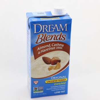 Dream Blends Almond Cashew  and  Hazelnut Drink Original Unsweetened  and  Low Fat 32 oz