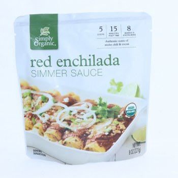 Simply Organic Red Enchilada Simmer Sauce  8 oz