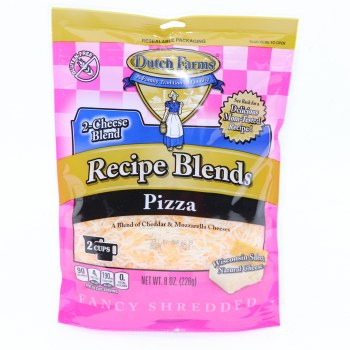 Dutch Farms Recipe Blend Pizza, A Blend of Cheddar & Mozzarella Cheeses, Gluten Free, 8 oz 8 oz