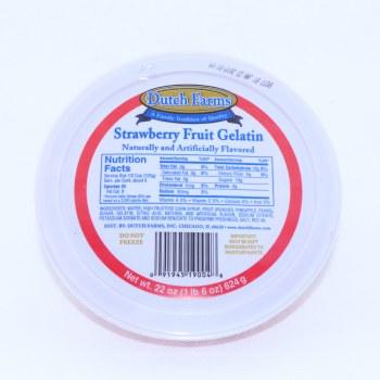 Dutch Farms, Strawberry Fruit Gelatin 24 oz