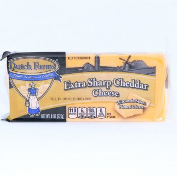 Dutch Farms Extra Sharp Cheddar Cheese, 8oz.  8 oz