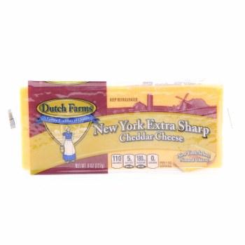 Dutch Farms New York Extra Sharp Cheddar Cheese 8 oz