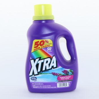 Xtra Tropical Passion Detergent, For all Machines Including He, 50 Loads 75 oz