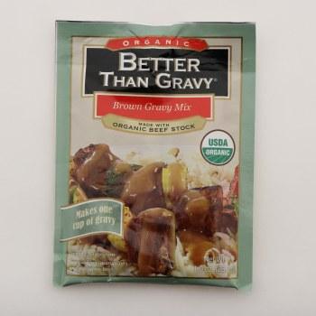 Better Than Gravy Organic Brown Gravy Mix, Made With Organic Beef Stock, USDA Organic 1 oz