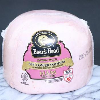 Boars Head Deluxe Low Sodium Ham 42Per Cent Lower Sodium  1 lb