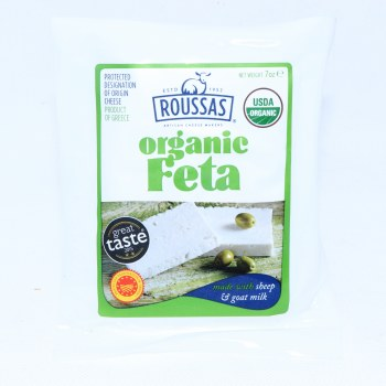 Roussas Organic Feta made with Sheep & Goat Milk 7 oz