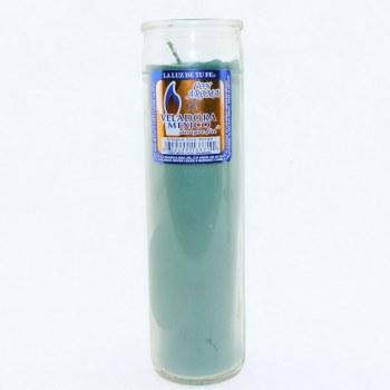 Veladora Clear Green Candle
