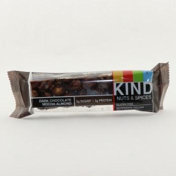 Kind Dark Chocolate Mocha Almond Nut & Spices Bar, Gluten Free, 5g Sugar, 5g Protein, No Sugar Alcohols, Dairy Free, No Genetically Engineered Ingredients 1.4 oz