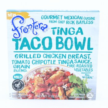Frontera Tinga Taco Bowl, Grilled Chicken Breast, Tomato Chipotle Tinga Sauce, Grain Blend, Fire-Roasted Vegetables, Mild, All Natural  11 oz