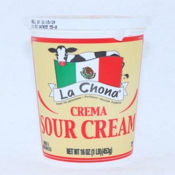 La Chona Crema, Sour Cream, 16oz.  16 oz