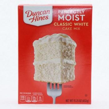 Duncan hines clas white 15.25 oz