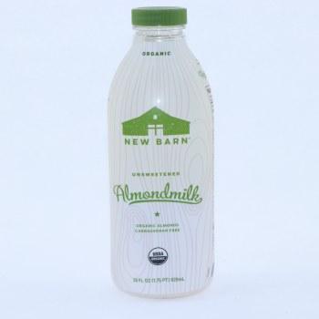 New Barn Original Unsweetened Almondmilk Organic Almonds Carrageenan Free USDA Organic Vegan  28 oz