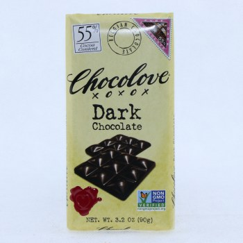 Chocolove Dark Chocolate, 55% Cocoa, NON GMO  3.2 oz