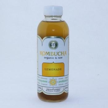 GTS Kombucha Lemonade. Vegan, Non GMO, Kosher, Gluten Free, USDA Organic. 16.2 oz