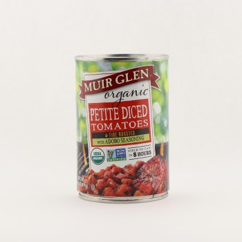 Muir Glen organic diced tomatoes with adobo  14.5 oz
