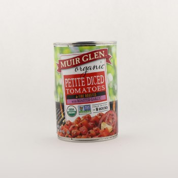 Muir Petite Diced with roasted garlic 14.5 oz