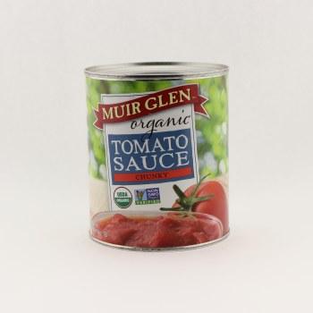 Muir Glen organic chunky tomatoe sauce 28 oz