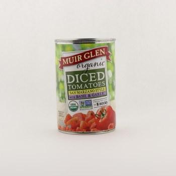 Muir Glen organic diced tomatoes basil and garlic 14.5 oz