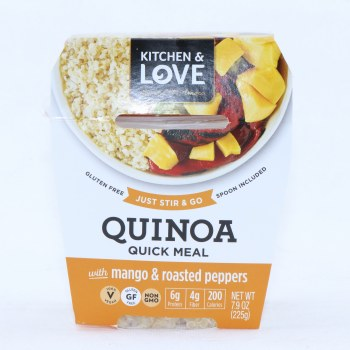 Kitchen & Love Quinoa Quick Meal with Mango and Roasted Peppers, Gluten Free, Vegan and Non GMO 7.9 oz